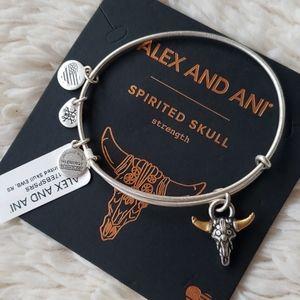 Spirited Skull Bracelet Alex & Ani Coppure Silver